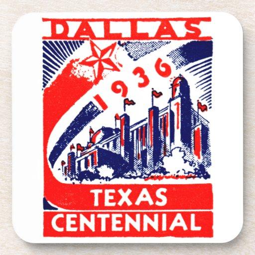 1936 Dallas Texas Centennial Drink Coaster