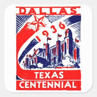 1936 Dallas Texas Centennial Sticker