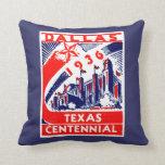 1936 Dallas Texas Centennial Throw Pillow at Zazzle