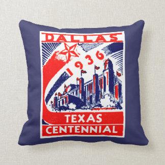 1936 Dallas Texas Centennial Throw Pillows