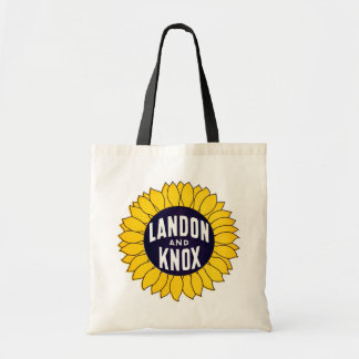 1936 Elect Landon and Knox Canvas Bags