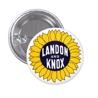 1936 Elect Landon and Knox Button