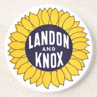 1936 Elect Landon and Knox Coasters
