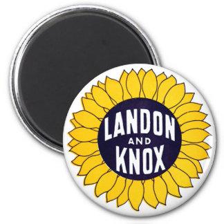 1936 Elect Landon and Knox Fridge Magnet