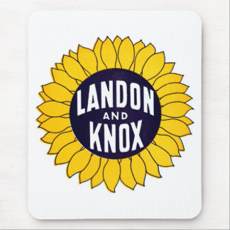 1936 Elect Landon and Knox Mouse Pad