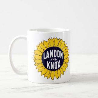 1936 Elect Landon and Knox Classic White Coffee Mug
