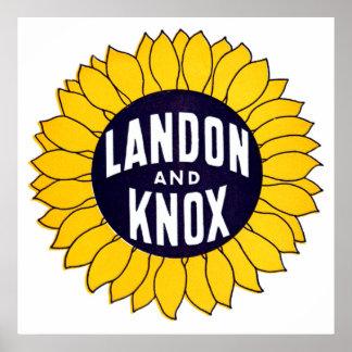 1936 Elect Landon and Knox Poster