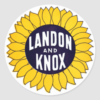 1936 Elect Landon and Knox Stickers