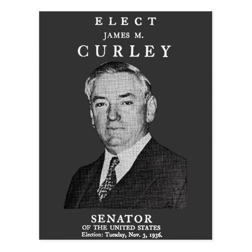 1936 elija Curley al congreso Postales