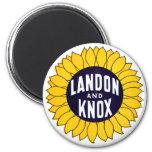 1936 elija Landon y Knox Imán Redondo 5 Cm