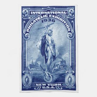 1936 expo filatélica internacional Nueva York Toalla