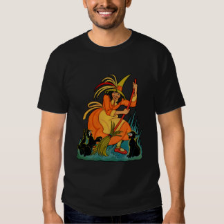 1936 Halloween Witch & Black Cats T Shirt