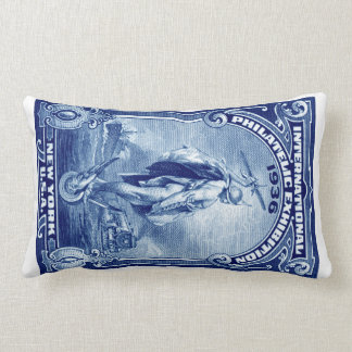 1936 International Philatelic Expo New York Lumbar Pillow