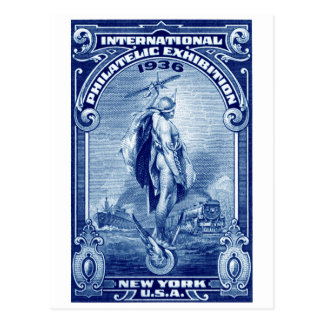 1936 International Philatelic Expo New York Postcard