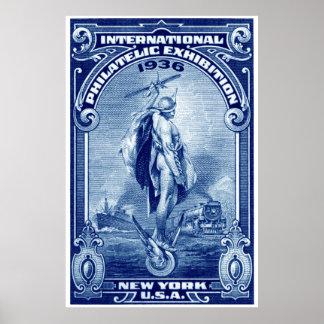 1936 International Philatelic Expo New York Poster