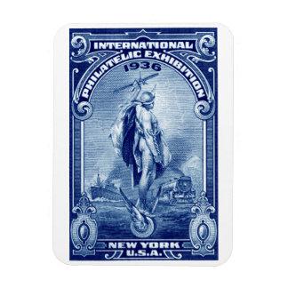 1936 International Philatelic Expo New York Rectangle Magnet