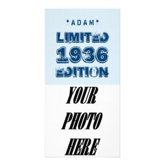 1936 or Any Year Birthday Limited Edition 80th A01 Card