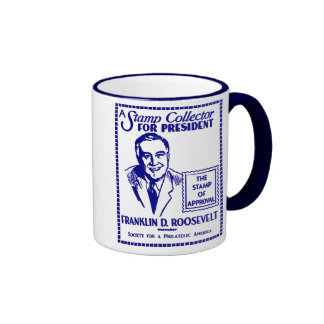 1936 Stamp Collector FDR for President Coffee Mug
