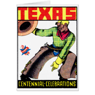 1936 Texas Centennial Card