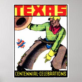 1936 Texas Centennial Poster