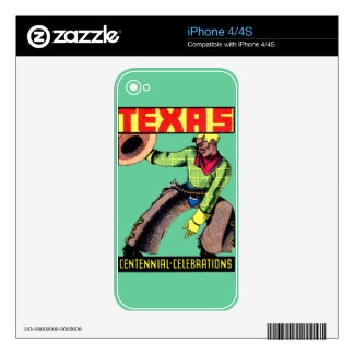 1936 Texas Centennial Decal For The iPhone 4S