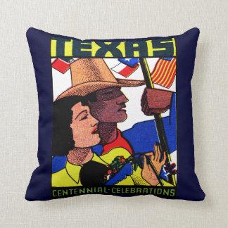 1936 Texas Centennial Throw Pillow
