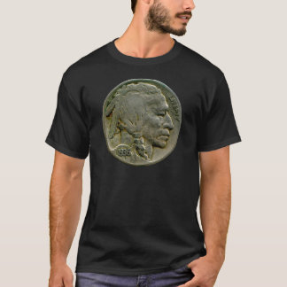 1936 US 'Buffalo' nickel heads t-shirt