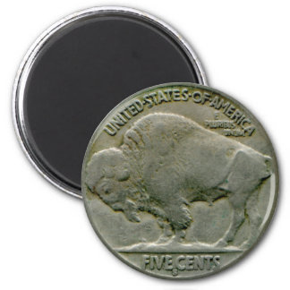 "1936 US ""Buffalo"" nickel tails magnet"