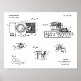 1936 Vintage Camera Patent Art Drawing Print