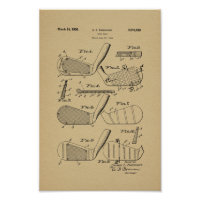 1936 Vintage Golf Club Patent Art Print