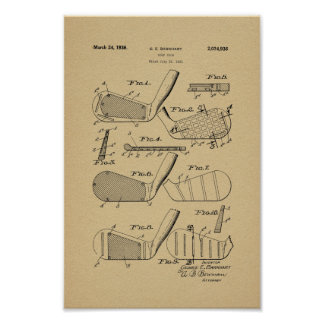 1936 Vintage Golf Club Patent Art Print