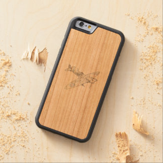 1936 WWII Spitfire Fighter Aircraft-color Carved Cherry iPhone 6 Bumper Case
