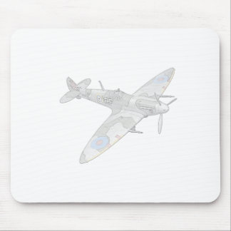 1936 WWII Spitfire Fighter Aircraft Mouse Pads