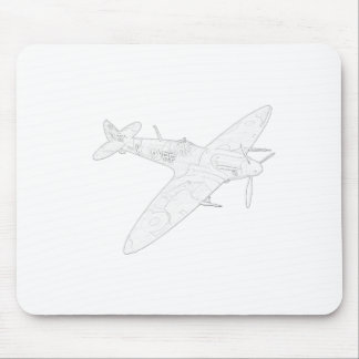 1936 WWII Spitfire Fighter Aircraft Mousepads
