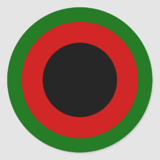 1937-47, Afghan Air Force Roundel Classic Round Sticker
