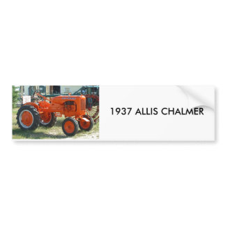1937 ALLIS CHALMER BUMPER STICKER