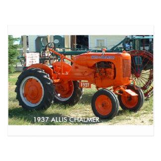 1937 ALLIS CHALMER TRACTOR POSTCARD