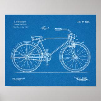 1937 Bicycle Headlamp Design Patent Art Print