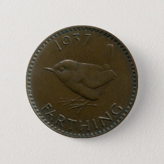 1937 British farthing button