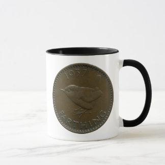 1937 British farthing mug