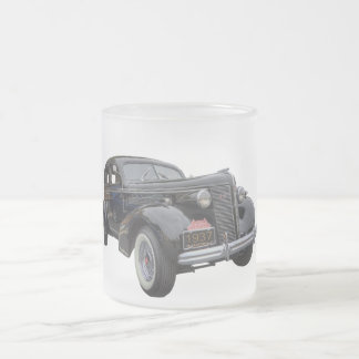 1937 BUICK FROSTED GLASS COFFEE MUG