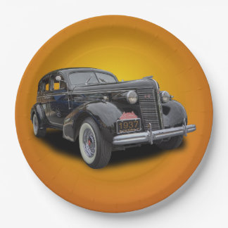 1937 BUICK 9 INCH PAPER PLATE