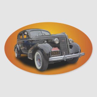 1937 BUICK OVAL STICKER