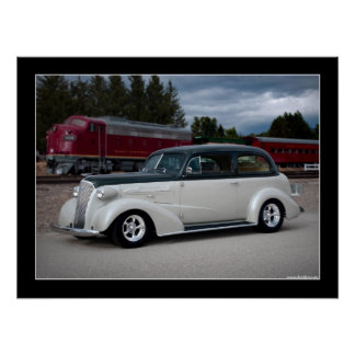 1937 Chevy Sedan Hot Rod Poster