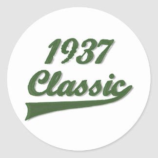 1937 Classic Classic Round Sticker