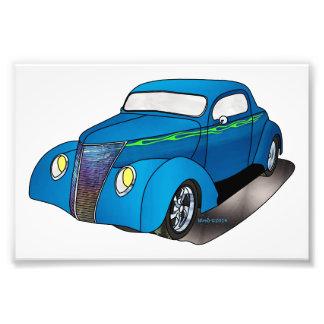 1937 cupé de Minotti Ford - azul Fotografía