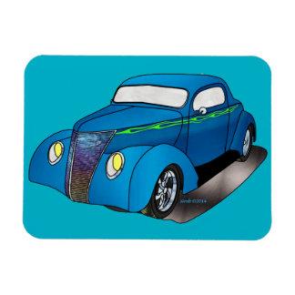 1937 cupé de Minotti Ford - azul Imanes De Vinilo