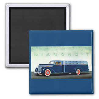 1937 Diamond T blue truck Magnet