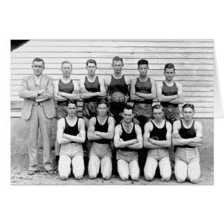 1937 Dibrell Boys Basketball Greeting Card