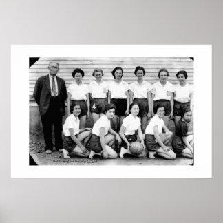 1937 Dibrell Girls Basketball Poster